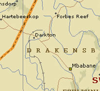 Oshoek/Ngwenya to Mbabane map