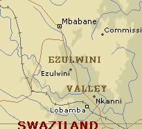 Ezulwini Valley map